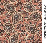 seamless paisley pattern in... | Shutterstock .eps vector #331636169