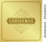 merry christmas typography... | Shutterstock .eps vector #331636421
