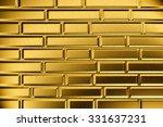 golden brick wall | Shutterstock . vector #331637231