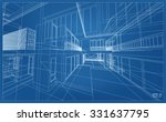 abstract 3d render of building... | Shutterstock .eps vector #331637795