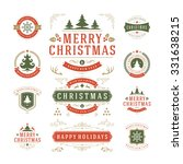 christmas labels and badges... | Shutterstock .eps vector #331638215