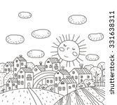 Coloring Book Sunny City Desig...