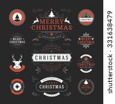 christmas labels and badges... | Shutterstock .eps vector #331638479