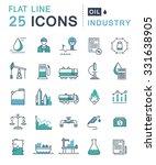 set vector line icons in flat... | Shutterstock .eps vector #331638905