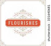 luxury logo template flourishes ... | Shutterstock .eps vector #331640681