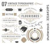retro vintage typographic... | Shutterstock .eps vector #331641491