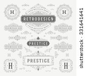 vintage vector ornaments... | Shutterstock .eps vector #331641641