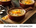 homemade beer cheese soup with... | Shutterstock . vector #331646234