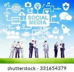 social media social networking... | Shutterstock . vector #331654379