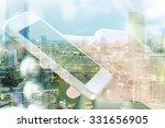 double exposure image of people ...   Shutterstock . vector #331656905