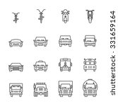 vehicle icon sets. line icons. | Shutterstock .eps vector #331659164