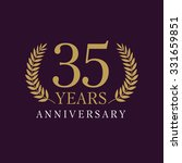 35 years old luxurious numbers. ... | Shutterstock .eps vector #331659851
