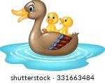 cartoon ducks on the pond... | Shutterstock .eps vector #331663484