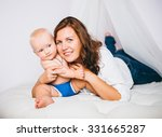 mother with baby | Shutterstock . vector #331665287