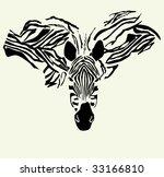 zebra design   Shutterstock .eps vector #33166810