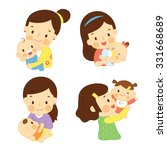 set mom and baby | Shutterstock .eps vector #331668689