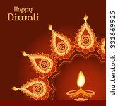 indian festival diwali vector... | Shutterstock .eps vector #331669925