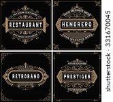 vintage logo templates  hotel ... | Shutterstock .eps vector #331670045