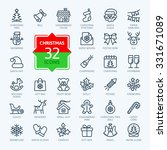 outline icon collection  ... | Shutterstock .eps vector #331671089