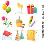 birthday icons | Shutterstock .eps vector #33167443