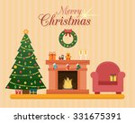 christmas room interior....   Shutterstock .eps vector #331675391