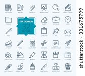 Outline Web Icon Set   Office...