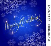 merry christmas card. vector... | Shutterstock .eps vector #331676405
