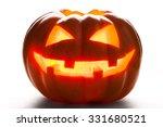 Single Halloween Pumpkin. Scary ...