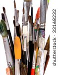 various colored paintbrush on... | Shutterstock . vector #33168232