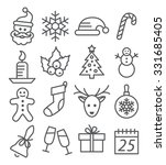 christmas line icons | Shutterstock . vector #331685405