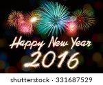 happy new year 2016 written... | Shutterstock . vector #331687529