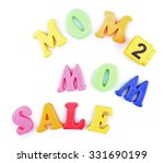 concept of childish goods sale  ... | Shutterstock . vector #331690199