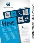 vector brochure  flyer ... | Shutterstock .eps vector #331690964