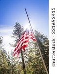 Dramatic Half Mast American...