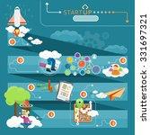 chain launch startup concept.... | Shutterstock . vector #331697321
