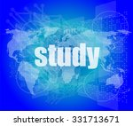 study words on digital touch... | Shutterstock .eps vector #331713671