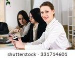 businessteam working together... | Shutterstock . vector #331714601