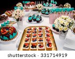 delicious sweet holiday buffet... | Shutterstock . vector #331714919