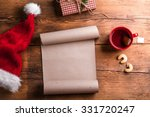 empty wishlist for santa claus... | Shutterstock . vector #331720247