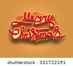 merry chrismas card | Shutterstock . vector #331722191