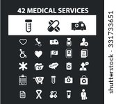 medical services icons   signs... | Shutterstock .eps vector #331733651