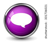 chat icon  speech button | Shutterstock .eps vector #331736021