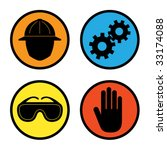 factory safety icons - stock vector