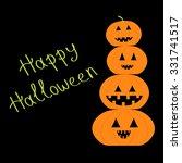 four funny pumpkins. halloween... | Shutterstock . vector #331741517