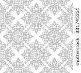 elegant damask wallpaper. grey... | Shutterstock .eps vector #331745225