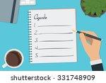 vector drawing agenda list...