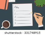 vector drawing policy list... | Shutterstock .eps vector #331748915