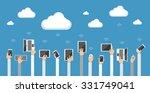 cloud computing concept. vector ... | Shutterstock .eps vector #331749041