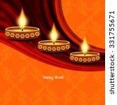 artistic religious happy diwali ... | Shutterstock .eps vector #331755671