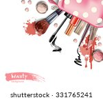 cosmetics and fashion... | Shutterstock .eps vector #331765241